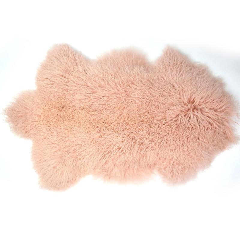 90 * 50cm īstas Tibetas brīvas formas aitādas paklājiņš, - Mājas tekstils