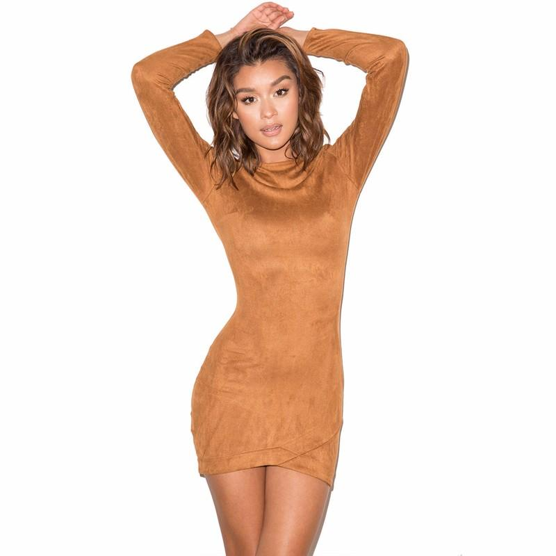 Compare Prices on Brown Long Sleeve Dress- Online Shopping/Buy Low ...