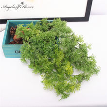 Forest Department Simulation Plastic Moss Fake Green Plant Wall materia Hanging plant Home Window green wall Christmas decor(China)