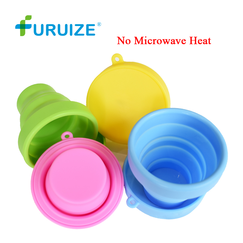 Menstrual Sterilizing Cup Collapsible Silicone Cup flexible to clean Menstrual Cup Recyclable Camping Foldable Sterilize Cup foldable cup rack