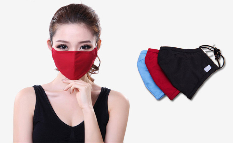 * Tcare Fashion Cotton PM2.5 Anti haze smog mouth Dust Mask + * Activated carbon filter paper * bacteria proof Flu Face Mask 8