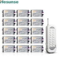 Y F211C1N15 Flexible 15Ch Disconnect RF Wireless Remote Control Switch For Light Learning Code 220V 110V