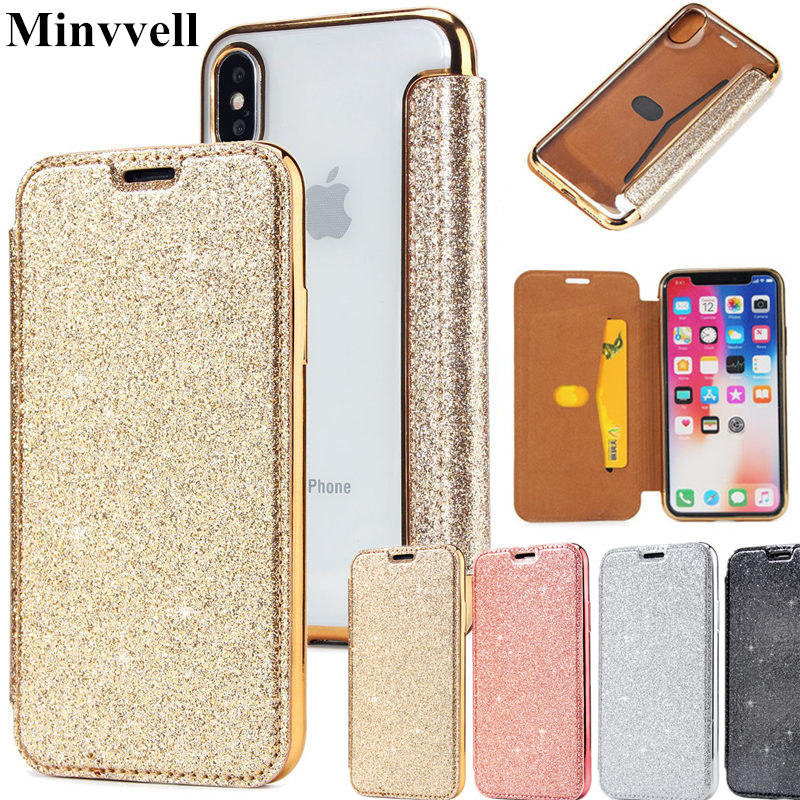 Bling Luxury Slim Book <font><b>Leather</b></font> +TPU Wallet <font><b>Flip</b></font> Phone <font><b>Case</b></font> Cover For <font><b>iPhone</b></font> 6 6S Plus <font><b>7</b></font> Plus 5 SE <font><b>Case</b></font> for <font><b>iphone</b></font> 8 plus X XS XR image