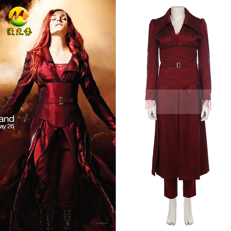 2017 New  Hot Movie X-men The Phoenix Cosplay Costumes Full Spandex Windbreaker Pants for Halloween For Women Adult Party