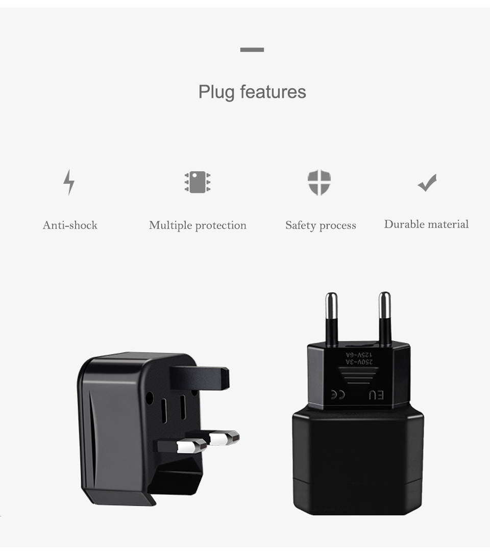 Three-in-one Global Travel Conversion 3 Sockets Plugs Universal Adapter Travel Abroad Converter Household Plugs USAUEUUK (4)