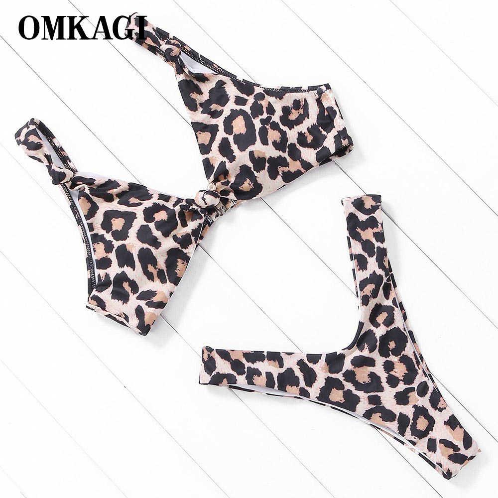 a1a32a392 OMKAGI marca Bikini Mujer 2019 traje de baño mujeres Sexy Bikini conjunto  traje de baño de