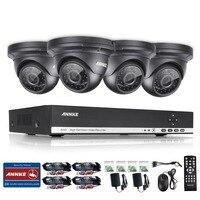 2016 New ANNKE 4CH Email Alarm CCTV Set AHD DVR 4PCS 1280TVL 720P IR Outdoor Home
