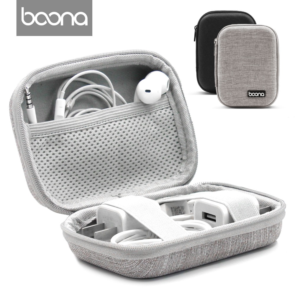Boona Headphone Earphone Case Hard Carrying Case Earphone Cord Organizer Earphone Carrying Case for Earphone Earbuds Airpods