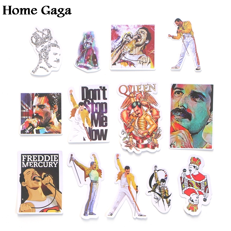 24sets lot Homegaga 13pcs set Freddie Mercury scrapbooking decals diy Creative badges DIY stickers vintage notebook