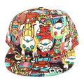 Hip Hop Graffiti Cap Baseball Flat Peaked Adjustable Snapback Hat Women Men