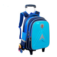 Removable Children School Bags Six Wheels Children S Trolley Backpack Primary School Backpack Boys Girls Wheeled