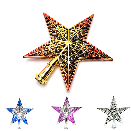 Us 1 66 18 Off 1pcs New Gold Sliver Red Pink Glitter Star Christmas Tree Topper Star Decoration Xmas Tree Ornament Xmas Tree Star Decor In Tree