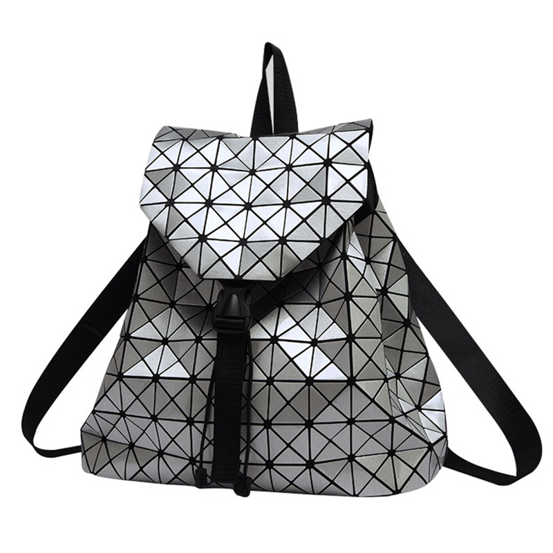 Women Backpack Feminine Geometric Plaid Sequin Female Backpacks For Teenage Girls Bagpack Drawstring Bag Holographic Backpack free shipping new lp electric guitar pickup in gold made in south korea wk 05