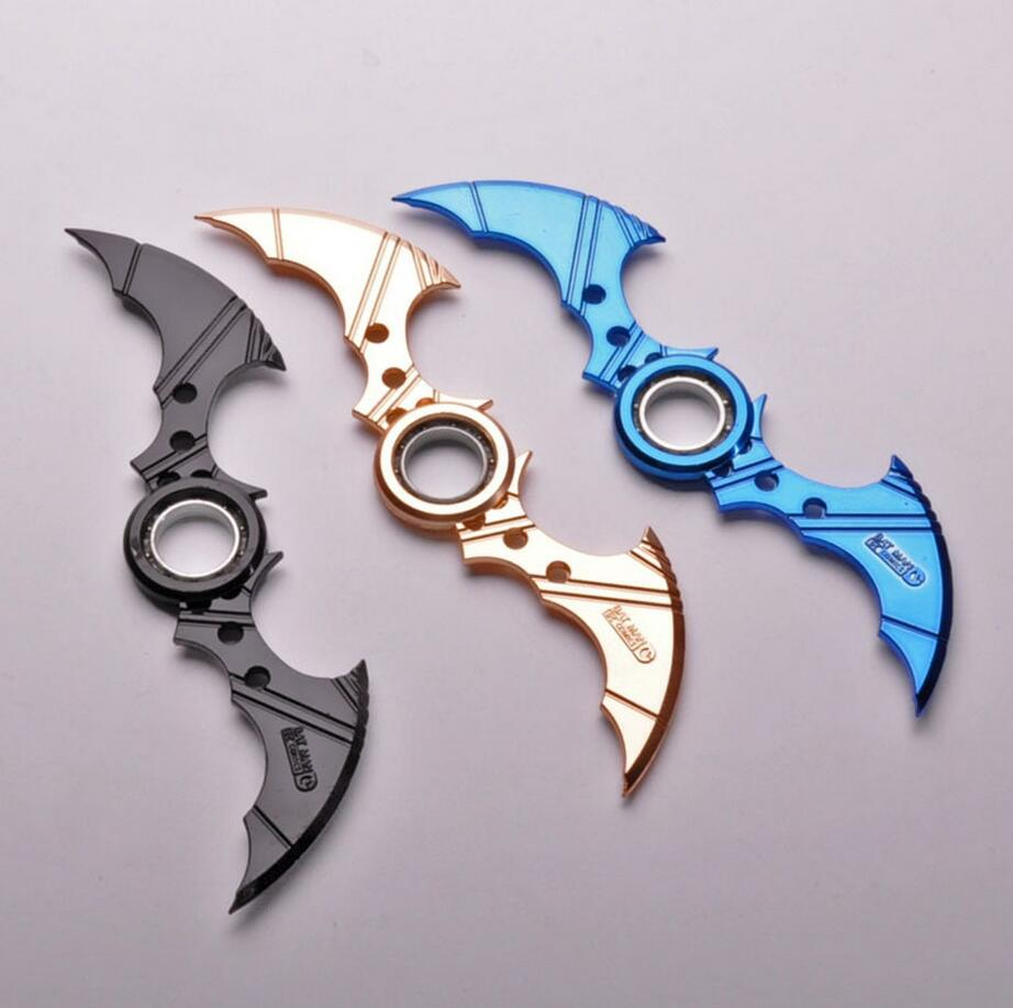 16cm Batman Dart Fingertip Fidget Spinner Batarang Toys For Adult Children Anti Stress Toys Metal Naruto Spinner