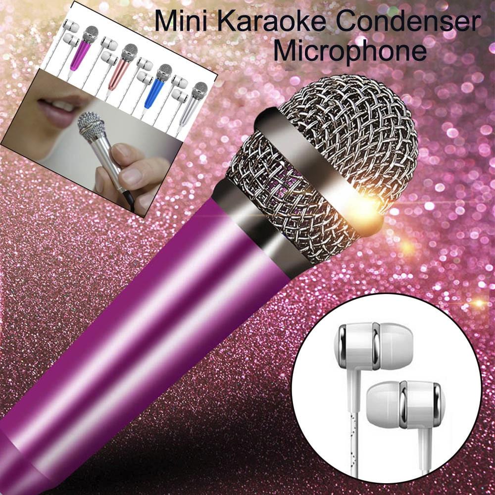 Mini Karaoke Condenser Microphone For Cellphone Computer Mini Phone Microphone