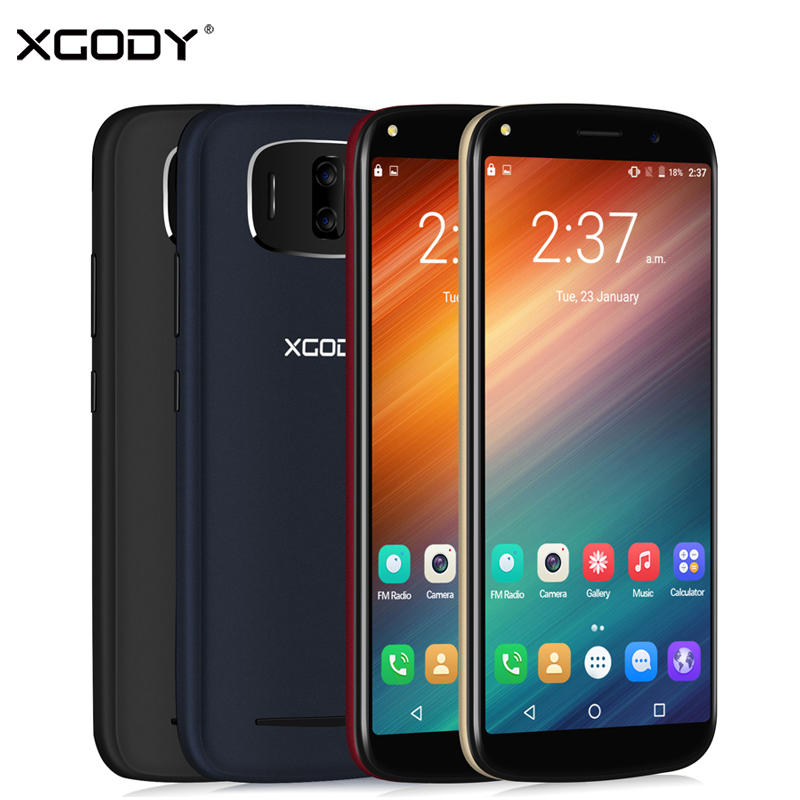 XGODY Y24 Face ID Smartphone Android 6.0 6 Inch 18:9 3G Unlock Cell Phone 2780mAh MTK6580 Quad Core 1GB RAM 8GB ROM 13MP Celular