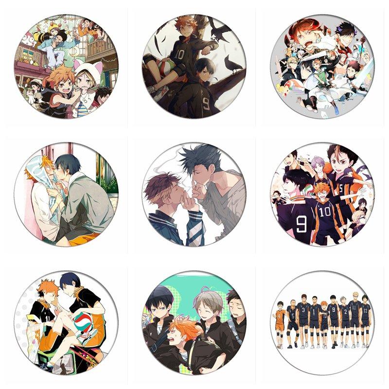 1pcs Manga Haikyuu!! Cosplay Badges Hinata Shoyo Brooch Pins 58mm Japan Anime Collection Badge for Backpacks Clothes(China)