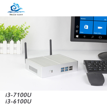 HLY Mini Computer Core i3 7100U 6100U 4K Mini PC Windows 10 Intel NUC Celeron 2955U HDMI Micro Desktop Computer Barebone Nettop