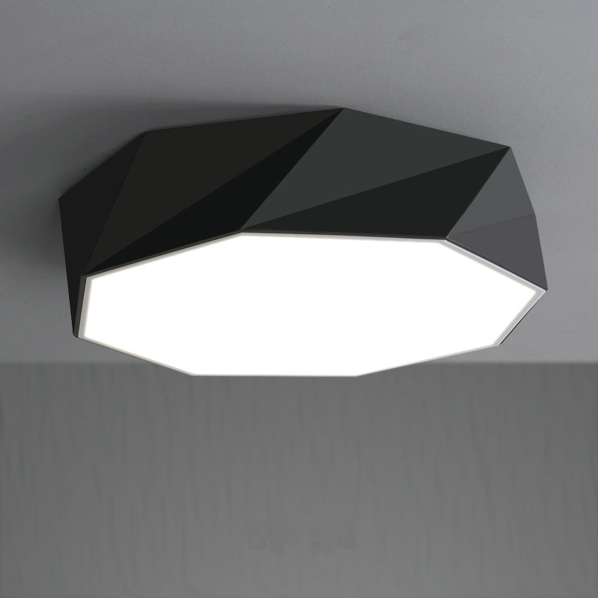 Geometric modern LED ceiling lamp living room bed room light home decoration lighting free shipping free shipping remote control colorful modern minimalist led pyramid light of decoration led night lamp for christmas gifts