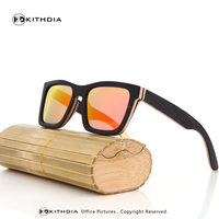 KITHDIA Classic Wood Sunglasses Women With Wooden Frame Bamboo sunglasses in Wood Box UV400 Protect Polarized Lenses