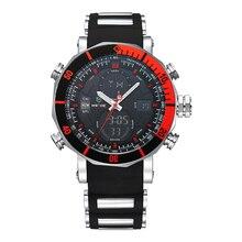WEIDE Reloj de la Marca Top Hombres Deportes Serie de Lujo Logo multifuncional de Cuarzo Analógico Digital Cronómetro Alarma Reloj Grande Para hombre