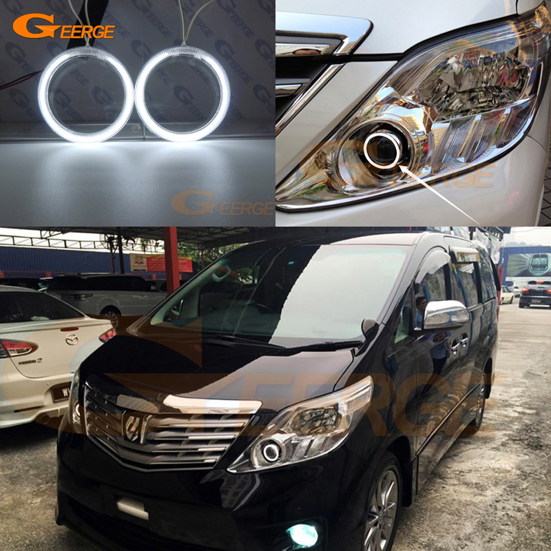 For toyota ALPHARD 2011 2012 Excellent Angel Eyes Ultra bright illumination CCFL Angel Eyes Halo Ring kit