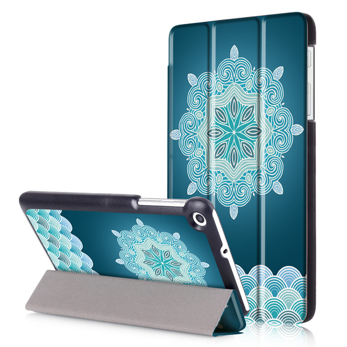 PU Leather Stand Cover Case for Huawei Honor Mediapad T1 7.0 T1-701 T1-701U 7 Tablet + 2Pcs Screen Protector