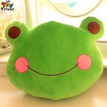 32X40cm Kawaii Plush Green Frog Toy Cushion Pillow Stuffed Doll Kids Toys Birthday Christmas Gift Home