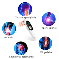 Small size wounds therapy cold laser therapy for pain relief with 808nm and 650nm low level laser therapy device