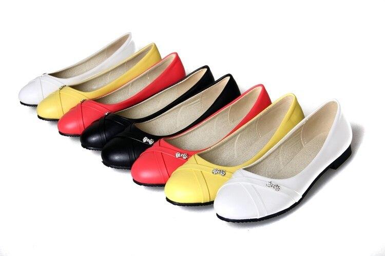 De gran Tamaño 34-47 de Las Mujeres de Moda Zapatos Mujer Pisos Primavera Zapato