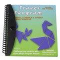 120 Rompecabezas Magnético Matemáticas Montessori educativos Tangram Juguetes Niños Niños Reto IQ Libro libro mágico