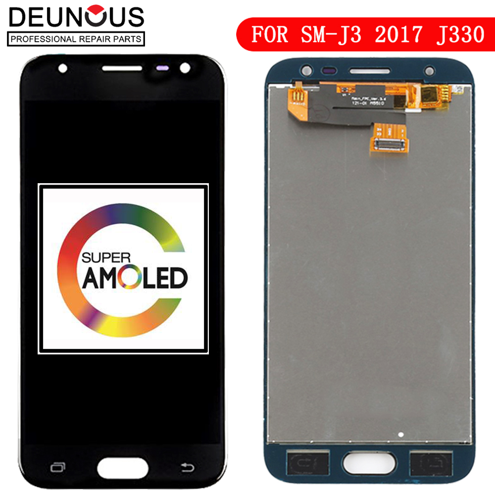AMOLED <font><b>J330FN</b></font> J330 For <font><b>Samsung</b></font> J3 2017 Display Glass J330F LCD Touch Digitizer For Galaxy For <font><b>Samsung</b></font> J3 Pro LCD Frame Screen image