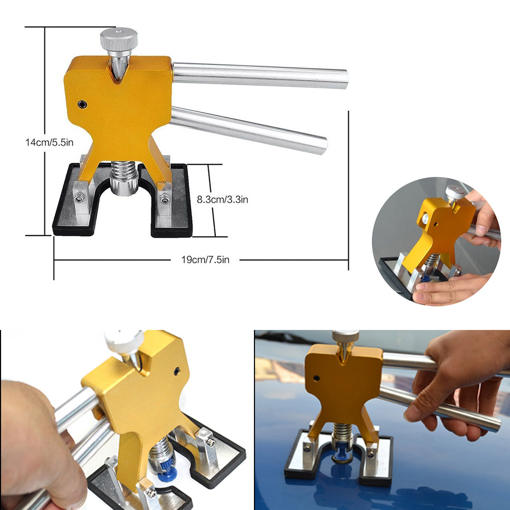 Tools : Furuix Rods Hooks Dent Puller Dent Lifter lamp Light Slide Hammer Car Dent Remover Kit  Glue stick Removal Hail Rods tool set