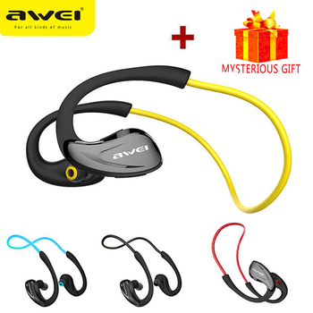 Awei Sport Earpiece Blutooth Cordless Auriculares Wireless Headphone Headset Bluetooth In-ear Earphone For Your Ear Phone Earbud i90000 pro tws blutooth earphone headset wireless in ear sport earbud stereo for all smart phone