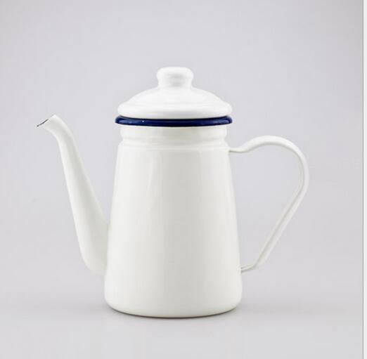 1 1l Enamel Teapot Vintage Loose Leaf Tea Coffee Pot Kettle Coated Steel Style Jug In Pots From Home Garden