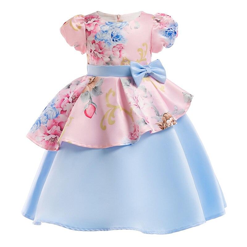 Nueva elegante niñas princesa vestido niños vestidos de fiesta para niñas vestido de novia vestido de Navidad los niños para niñas traje 8 10 año