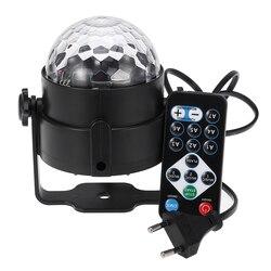3 Вт Мини RGB Кристалл Магический звук активированный диско шар сценический светильник Lumiere Рождество лазерный проектор для клубной вечеринк...