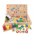 Montessori Bloques Juguetes de Madera Caja de Aprendizaje Digital Calculatio Juguetes Educativos Para niños juguetes de la matemáticas montessori de madera juguetes