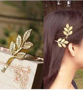 אביזרי שיער חתונה אופנה חדשים חמים ענפי זית עלים תכשיטי תיקיית צד סיכת כלה יפה סרטי ראש לנשים