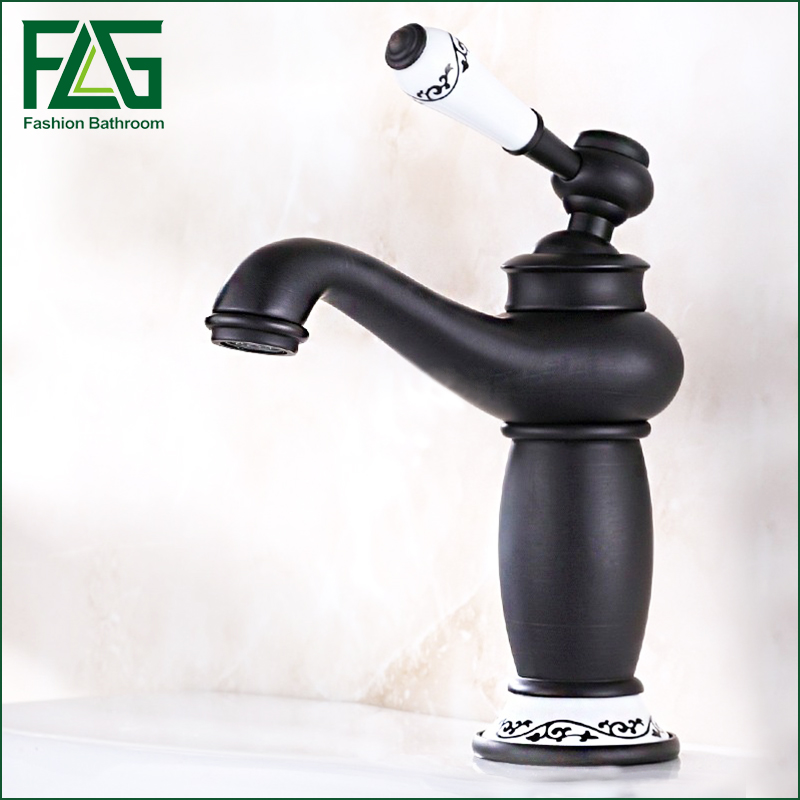 Oil rubbed bronze brass faucet hot and cold, Copper bathroom sink basin faucet black Antique ORB wash basin faucet mixer waterOil rubbed bronze brass faucet hot and cold, Copper bathroom sink basin faucet black Antique ORB wash basin faucet mixer water