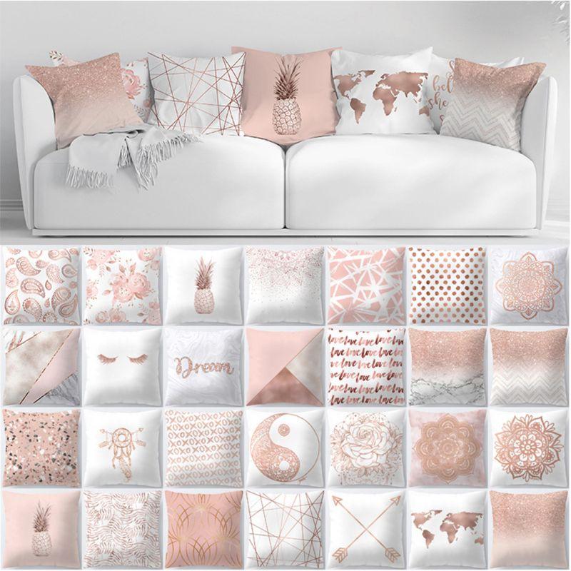 Zengia Lash Pillow Case Rose Gold Geometric Pineapple