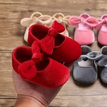 2019 The New 0-18M Toddler Baby Girl Soft PU Princess Shoes Bow Bandage Infant Prewalker Born
