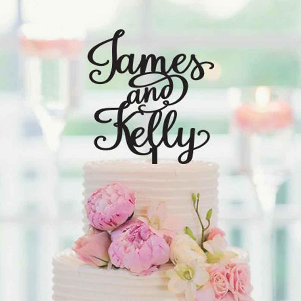 Personalized Wedding Cake Topper, With The Bride and Grooms First Names, Custom Anniversary Funy Cake Topper,Party cake topperPersonalized Wedding Cake Topper, With The Bride and Grooms First Names, Custom Anniversary Funy Cake Topper,Party cake topper