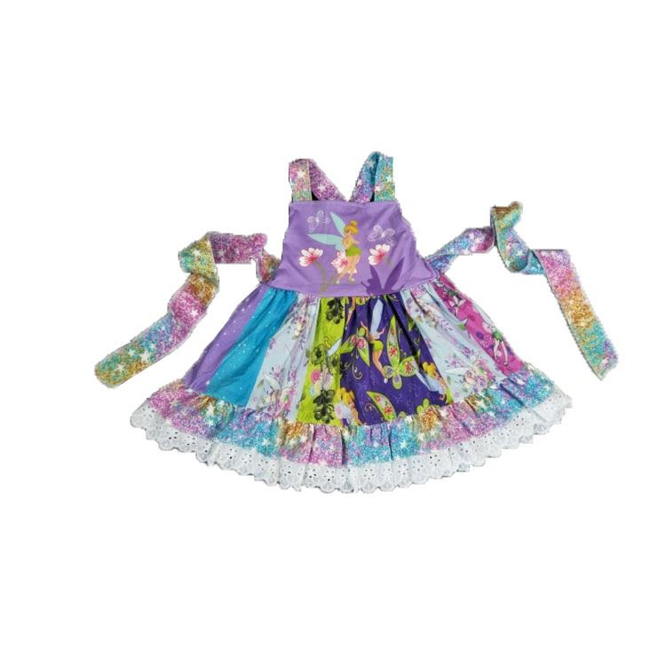 2019 latest design children's clothing summer baby   girl   clothes   girl   party   dress     flower     girl     dress   strap   dress