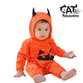 Baby clothes 2017 newborn clothes long sleeve hoodie little devil jumpsuit Halloween costume baby boy romper baby onesie