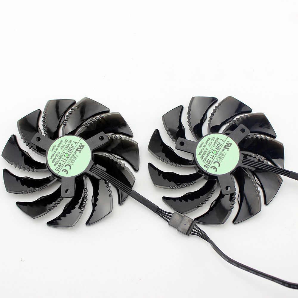 Ventilador para juegos T129215SU GV-RX570/RX580 GV-RX470 WF2/RX480 WF2 88MM para tarjetas Gigabyte