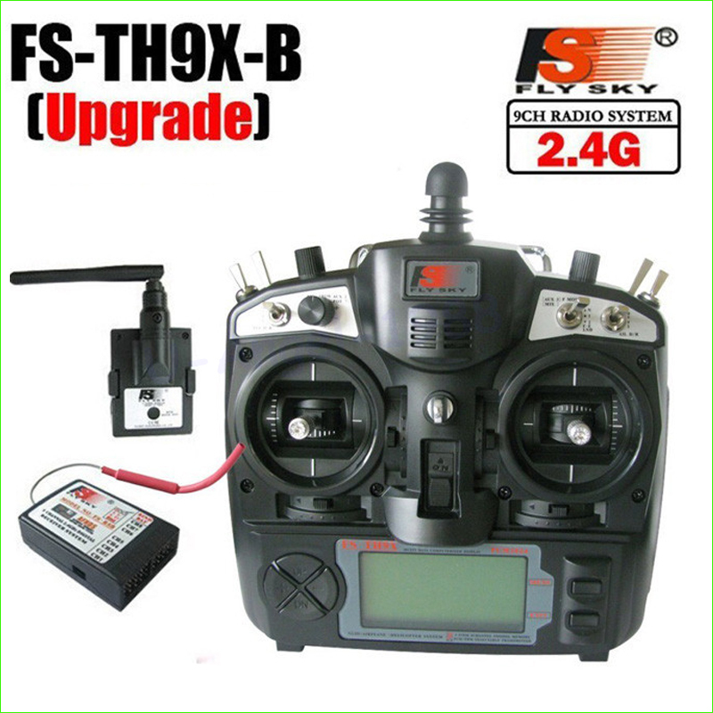 2.4G 9ch 9 channels system FS remtoe control rc Transmitter & Receiver Combo Flysky FS-TH9X TH9XB TX RX цена