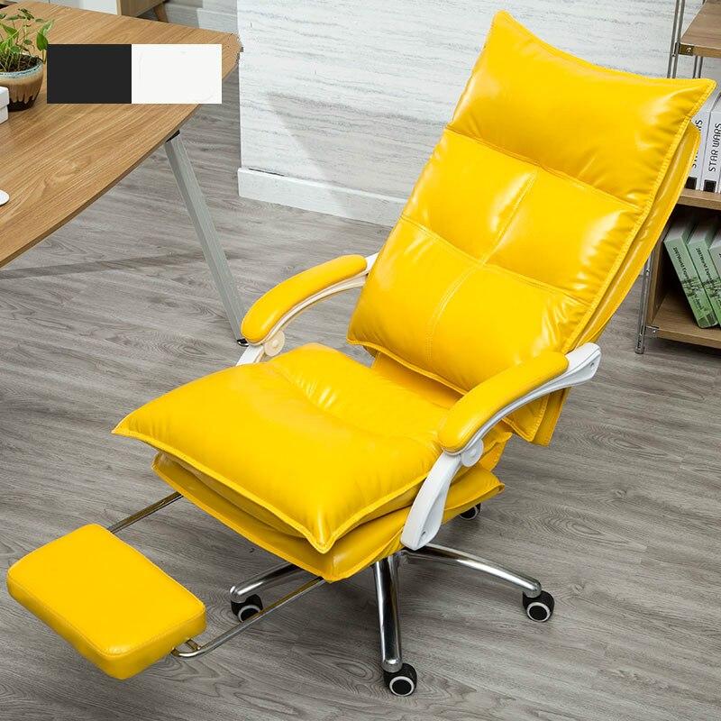 Luxuoso confortável deitado cadeira do computador de escritório em casa mobiliário de escritório cadeira giratória elevador assento do sofá com corrimão âncora 5 cor