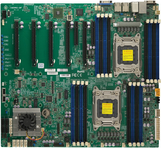 used Original X9DRG-QF dual server motherboard <font><b>C602</b></font> chipset Support 4GPU computing Support E5-2600 V2 90%new image