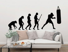 Vinyl Bedroom Decoration Darwin Boxing Evolution Poster Mural GYM Games Wall Paper Sticker LY1682